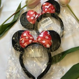 Accessories - Set of 2 Minnie Mouse Ears with Red Bow